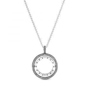 PANDORA Logo Cirkel Ketting 397410CZ