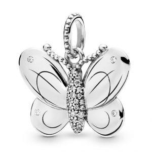 PANDORA Zilveren hanger Vlinder 397933CZ