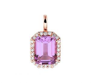 Hanger amethyst en diamant 0.10ct H SI - PSN4401204