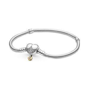 Disney Pandora Moments Snake Chain Armband met Hartsluiting 569563C01