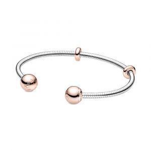 PANDORA Moments Snake Chain-Stijl Open Bangle 588291