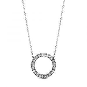 PANDORA Sprankelende Cirkel Ketting 590514CZ