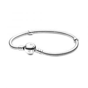 PANDORA Disney, Moments Sparkling Mickey Mouse & Snake Chain Armband 590731CZ