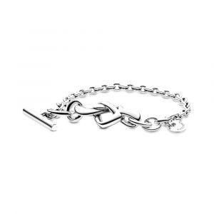 PANDORA Geknoopt Hart T-Balk Armband 598100