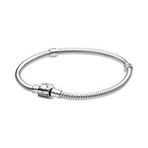 PANDORA Moments Snake Chain Armband met Cilindersluiting 598816C00