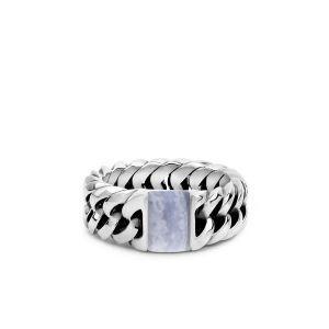 BUDDHA TO BUDDHA ring 603BA Chain Stone Ring Blue