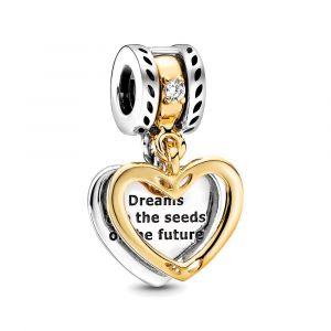 PANDORA Seeds of the Future Split Heart Bedel 768668C01
