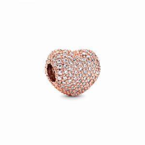 PANDORA Pavé Heart Clip Bedel 781427CZ
