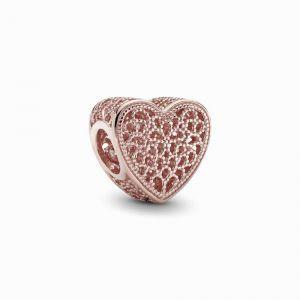 PANDORA Filigree & Beaded Heart Bedel 781811