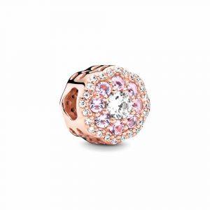 PANDORA Pink Sparkle Flower Bedel 787851NPM