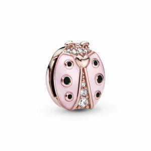 PANDORA Roze Lieveheersbeestje Clip Bedel 787970EN160