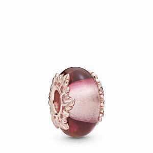 PANDORA Roze Muranoglas & Bladeren Bedel 788244