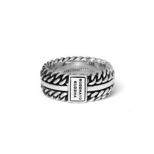 BUDDHA TO BUDDHA ring 788 Chain Texture Zilver