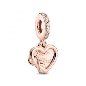 PANDORA Love You Infinity Heart Dangle Bedel 789369C01