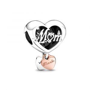 PANDORA Thank You Mum Heart Bedel 789372C00