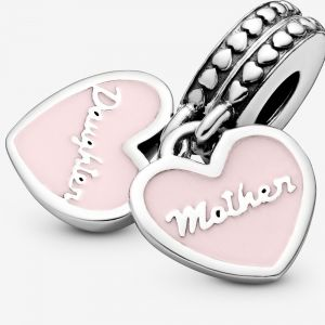 Pandora Mother & Daughter Hearts Hangende Bedel 792072EN40