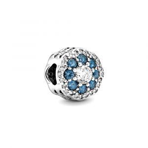 PANDORA Blauwe Sprankelende Bloem Bedel 797851NMB