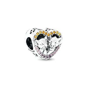 PANDORA Disney, Sparkling Simba & Nala Heart Bedel 798044NPRMX