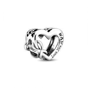 PANDORA Bedel Love You Mum Infinity Heart 798825C00