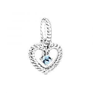 PANDORA Aquablauwe Hartvormige Hangende Kralenbedel 798854C01