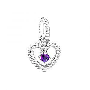 PANDORA Paarse Hartvormige Hangende Kralenbedel 798854C03