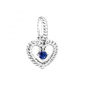 PANDORA Zeeblauwe Hartvormige Hangende Kralenbedel 798854C12