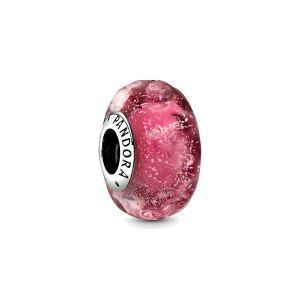 PANDORA Golvende Fancy Roze Muranoglazen Bedel 798872C00