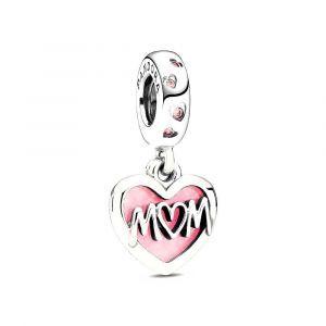 PANDORA Bedel Mum Script Heart 798887C01