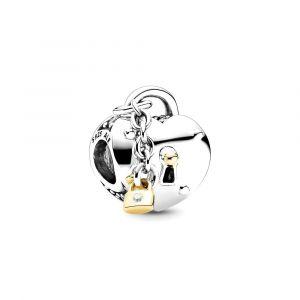 PANDORA Bedel Heart & Lock 799160C01