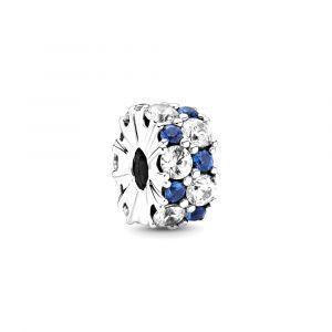 PANDORA Fixed clip bedel Clear & Blue Sparkle 799171C01