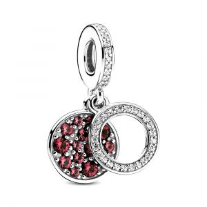 PANDORA Sparkling Red Disc Double bedel 799186C03