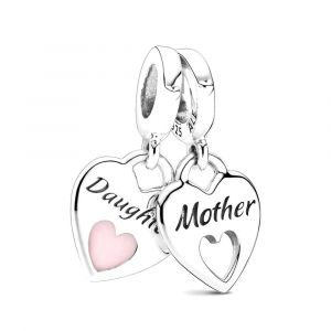 PANDORA Bedel Mother & Daughter Split Heart 799187C01