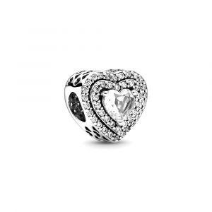 PANDORA Bedel Sparkling Levelled Hearts 799218C01