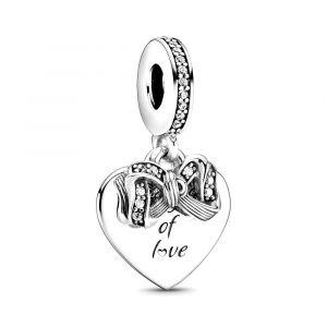 PANDORA Bedel Bow & Love Heart 799221C01