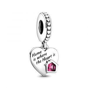 PANDORA Love My Home Heart Dangle Charm 799324C01