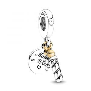 PANDORA Two-tone Birthday Candle Dangle Charm 799328C00