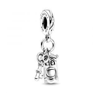 PANDORA Disney Alice in Wonderland Key & Door Knob Dangle Charm 799344C00