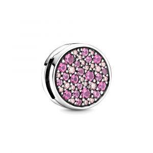 PANDORA Reflexions Pink Pave Clip Charm 799362C01
