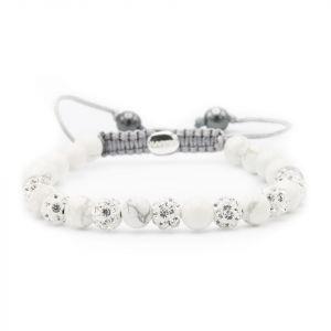 Karma armband 81004 Spiral Silvermoon XS (White Crystal)