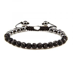 Karma Armband 82082 Spiral Full Crystal XS (Black Crystal)