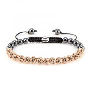 Karma Armband 82085 Spiral Full Crystal XS (Rose Crystal)