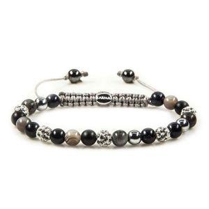 Karma Armband 82278 Spiral Raccoon XS (White Crystal)