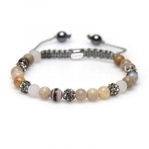 Karma Armband 83202 Spiral Mia XS (Grey Crystal)