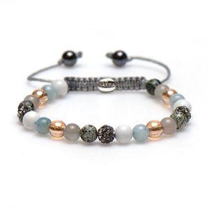 Karma armband 83394 Spiral Bright Beach XS (grey crystal)