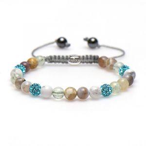 Karma armband 83409 Spiral Baby Brown XS (blue crystal)
