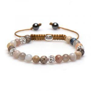 KARMA armband Spiral Sandy Shell XS (white crystal) 83426