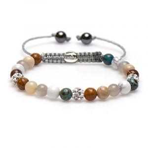 Karma armband 83427 Spiral Beach Bow XS (White Crystal)