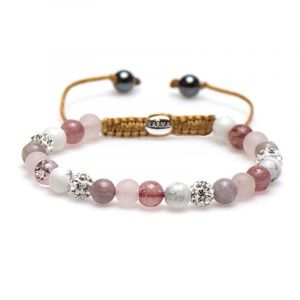 KARMA armband Spiral Best Blush XS (white crystal) 83429
