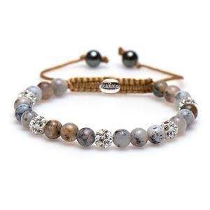 Karma armband 83432 Spiral Sandy Shore XS (White Crystal)