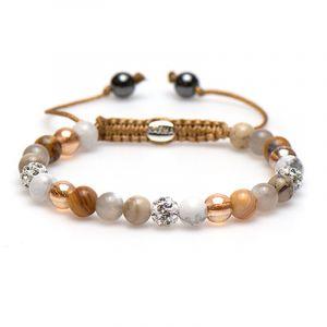 KARMA armband Spiral Behave Beige XS (white crystal) 83435